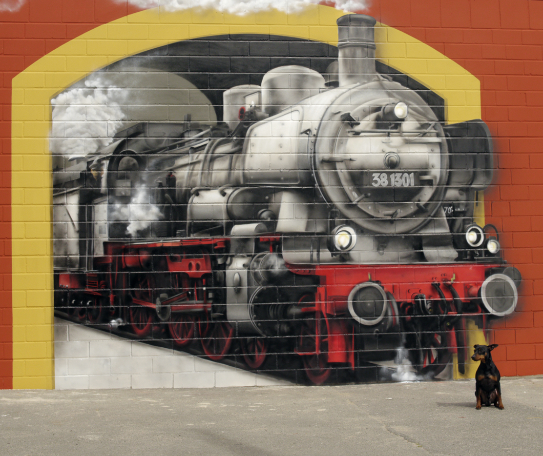 Graffiti Hannover | Illusionsmalerei | Lok