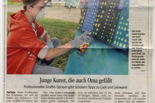 Springe_Workshop_Zeitungsartikel1