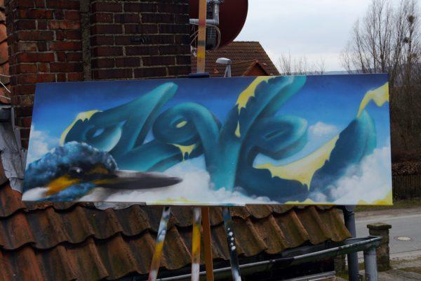 Graffiti Fassadenplatte