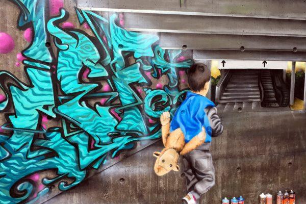 Graffiti | Illusionsmalerei | Hannover | Raschplatz | Urban Jungle | 1