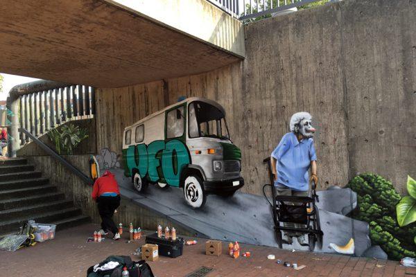 Graffiti | Illusionsmalerei | Hannover | Raschplatz | Urban Jungle | 16