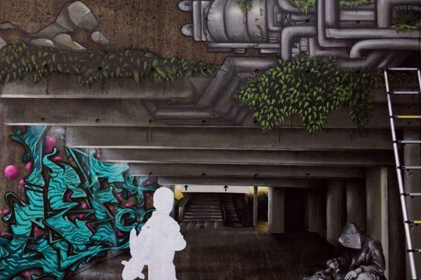 Graffiti | Illusionsmalerei | Hannover | Raschplatz | Urban Jungle | 3