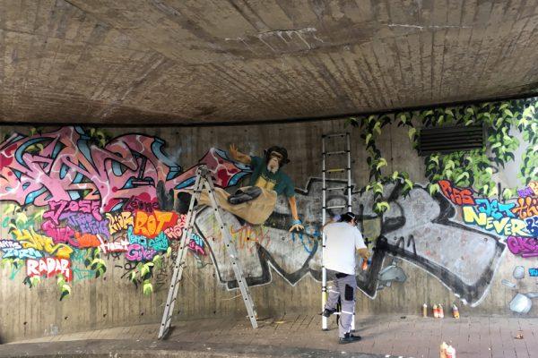 Graffiti | Illusionsmalerei | Hannover | Raschplatz | Urban Jungle | 4