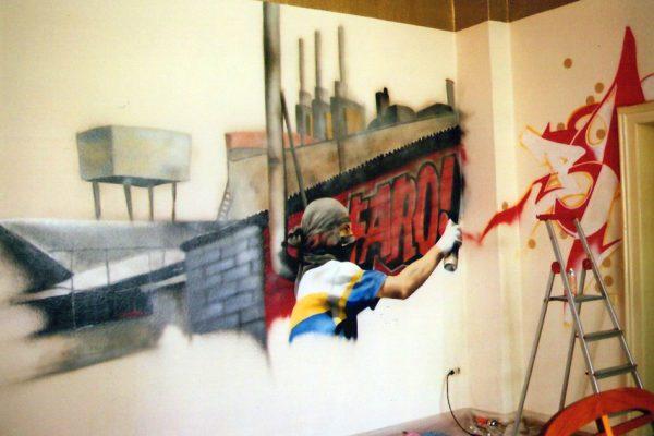 Graffiti Auftrag | Innenraum