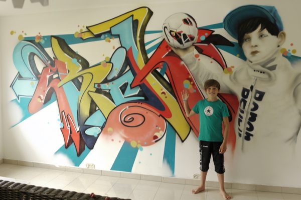 Graffiti Auftrag