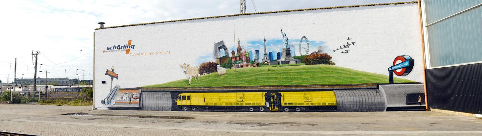 Graffiti Fassade Zeitraffer