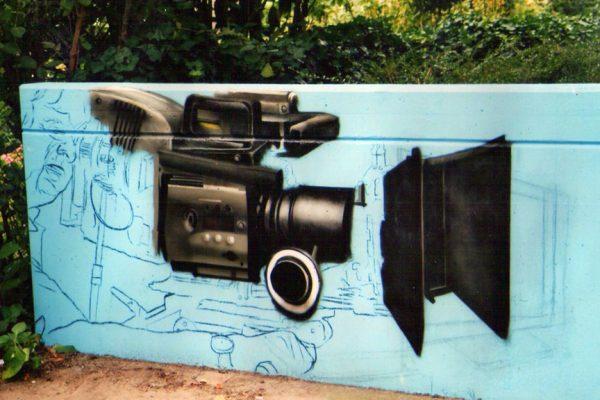 Graffitifassade