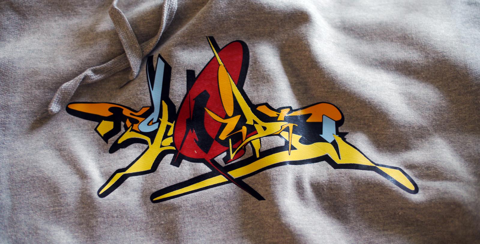 Graffiti Kaputzenpulli