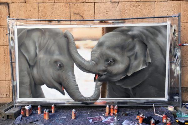 Graffiti im Zoo Hannover