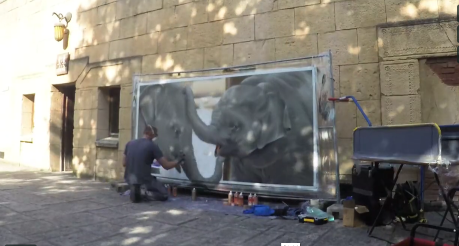 Graffiti | Zoo Hannover | Elefant | 2017