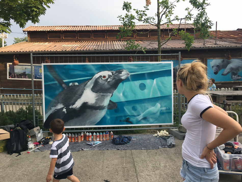 Graffiti | Zoo Hannover | Pinguine | 2017