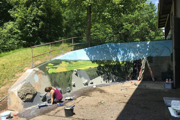 Graffiti Kletterhalle