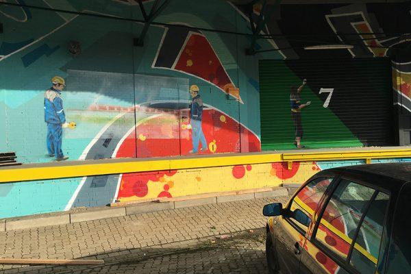 Riesen Graffiti