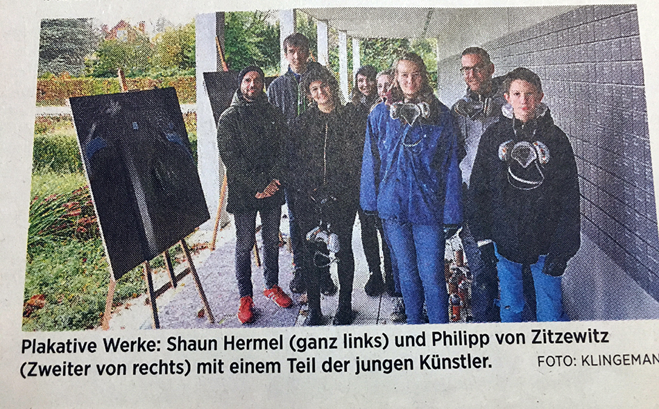 Graffiti Workshop in Gedenkstätte