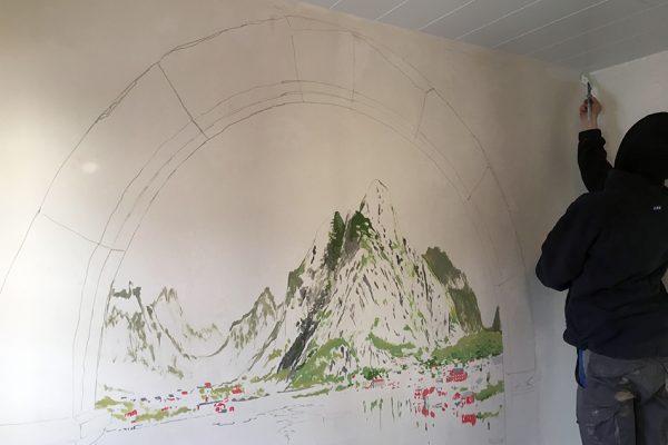 Graffiti Inneraumgestaltung
