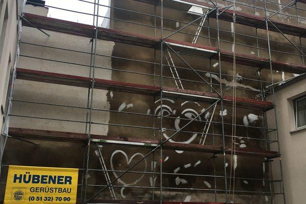 Graffiti in der Innenstadt von Hannover