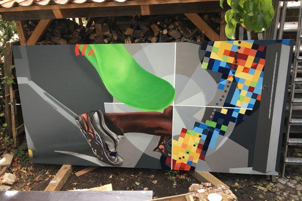 Graffiti in einer Arztpraxis