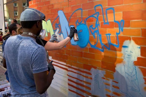 Graffiti gegen Rassismus