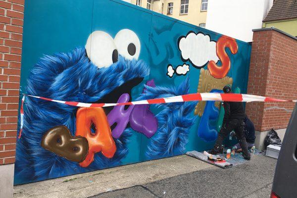 Graffiti Krümelmonster Bahlsen