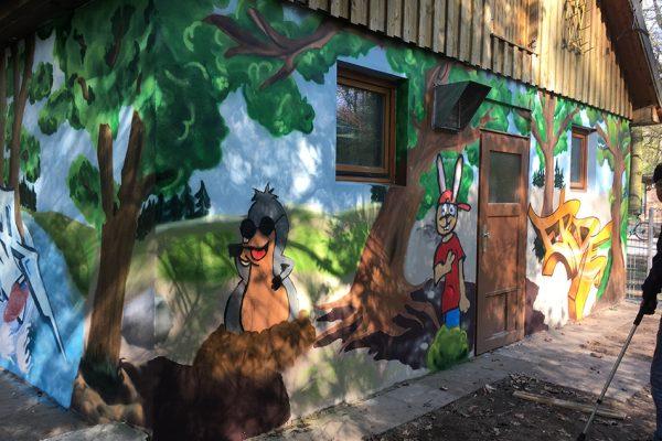 Graffitiworkshop Abenteuerspielplatz Wakitu