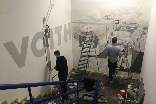 Graffiti Innenraum
