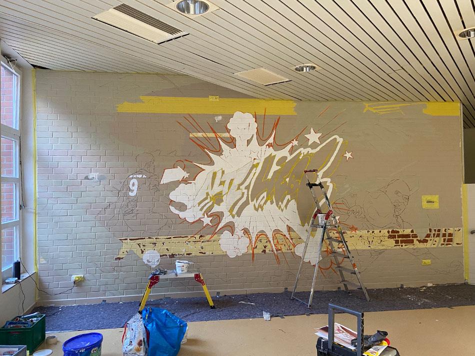 Graffiti im Klinikum